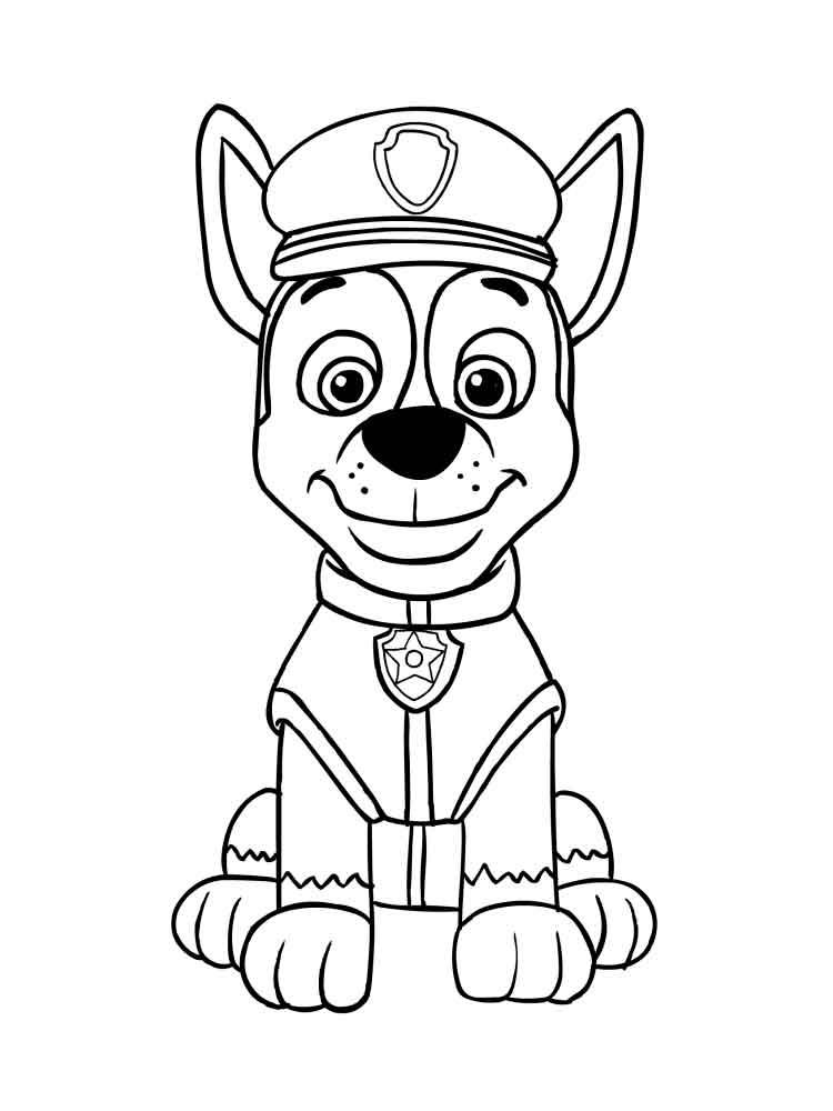 Рисунки щенячий патруль распечатать