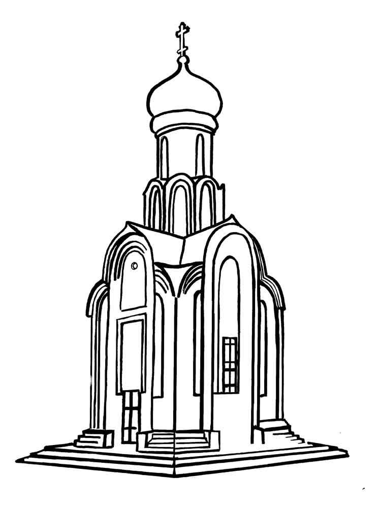 Раскраска храмы и церкви для детей