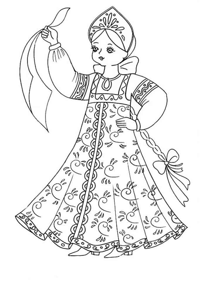 Рисунок дети в народных костюмах