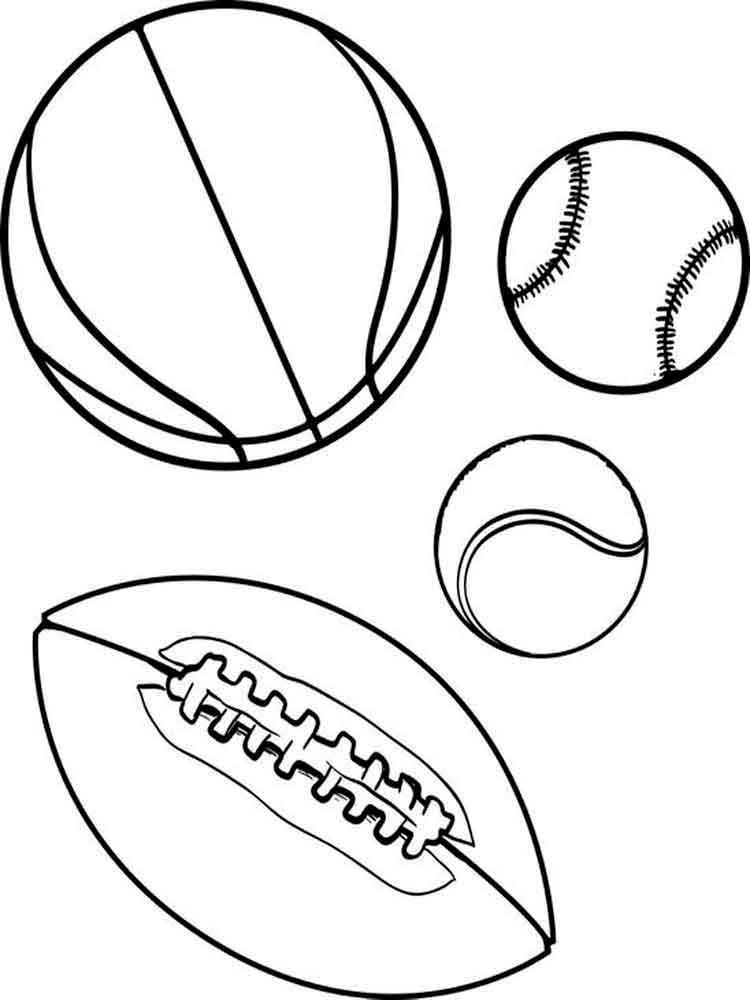 это рисунок спортивные принадлежности карандашом же, массовым