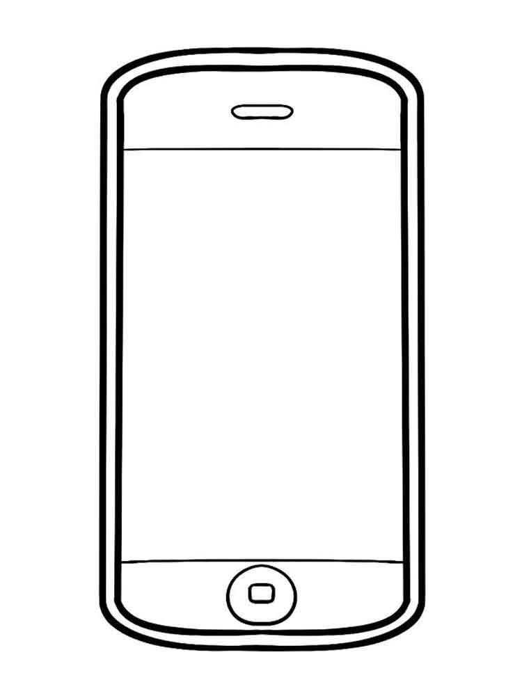 картинка смартфон для распечатки того
