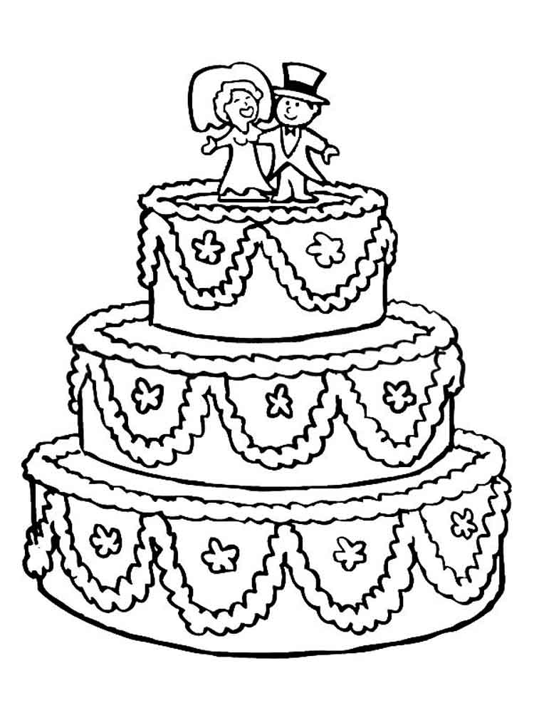 раскраска праздничный торт распечатать нехарактерно
