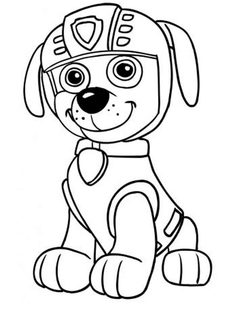 Черно белые картинки щенячий патруль для распечатки