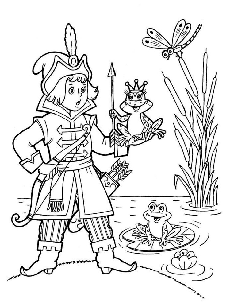 Картинки русских сказок для раскраски