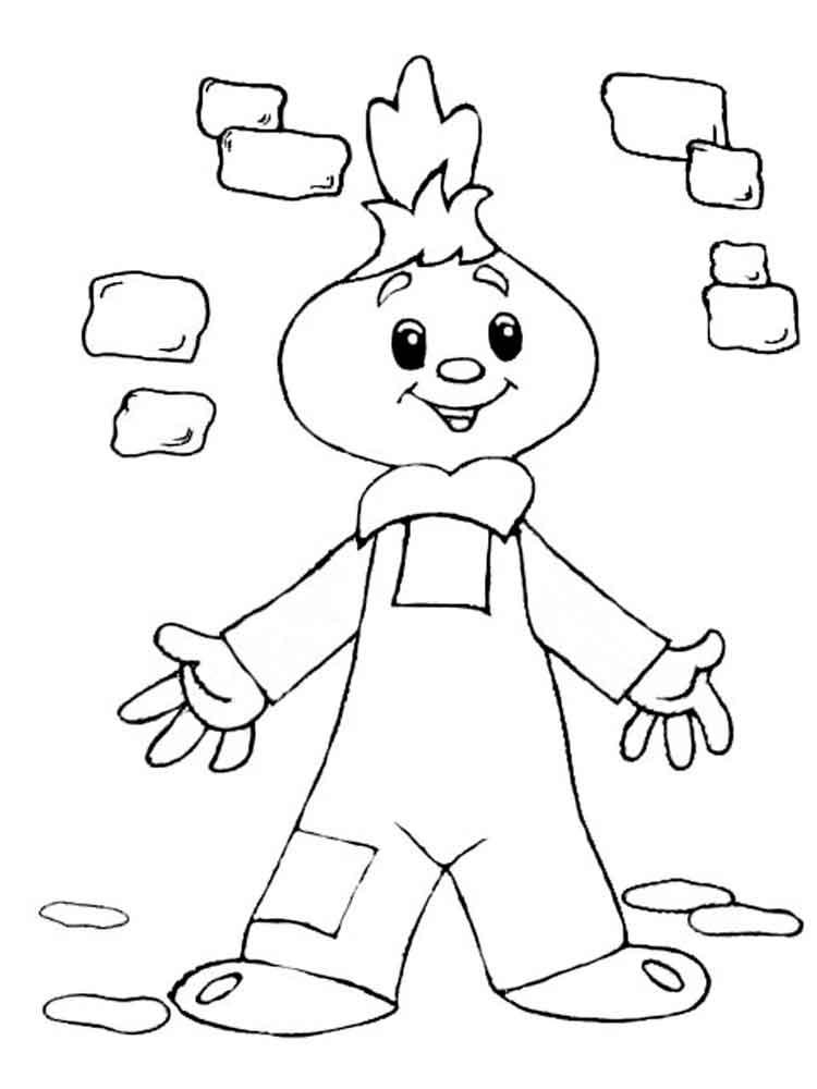 Днем, чиполлино картинки для детей нарисованные