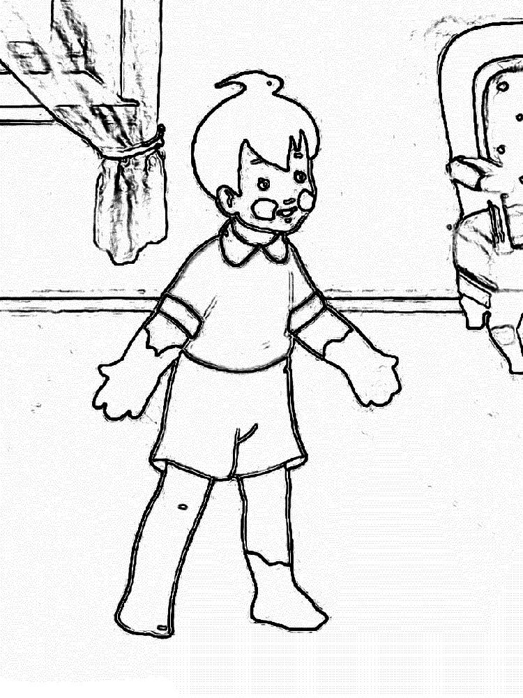 черно белым картинки мойдодыра химчан