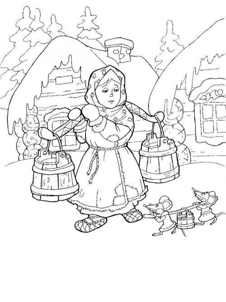 Иллюстрации к сказке морозко картинки распечатать
