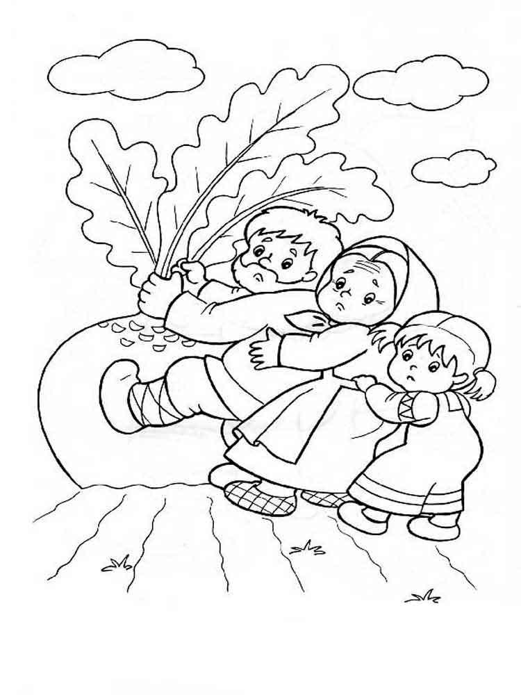 Сказка репка рисунок карандашом для детей