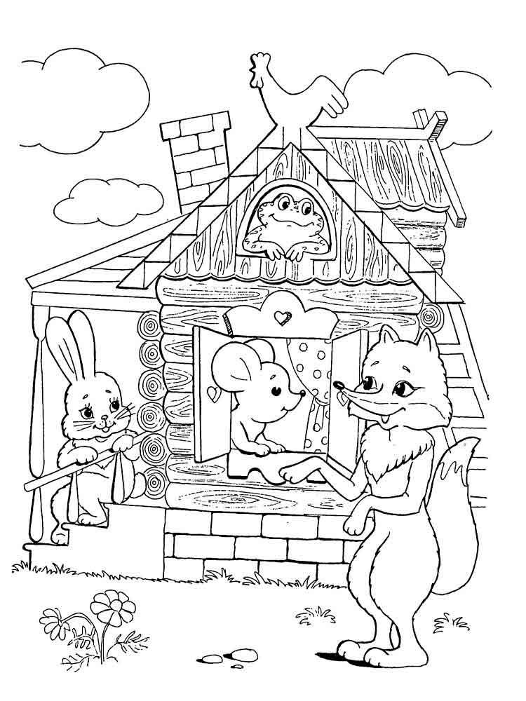 Картинки из детских сказок черно белые, 1-мая