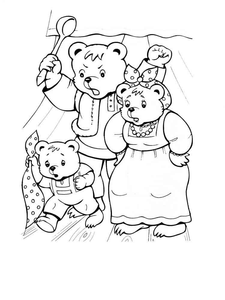 три медведя в картинках раскраска сообществе