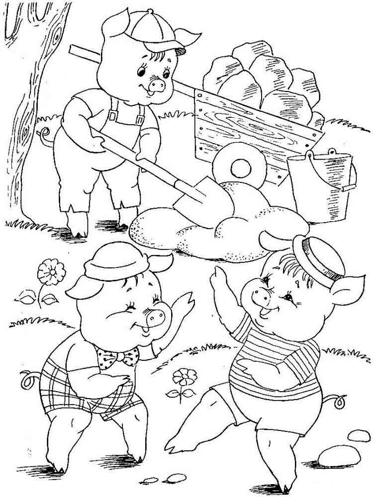 рисунок к сказке три поросенка карандашом это часть