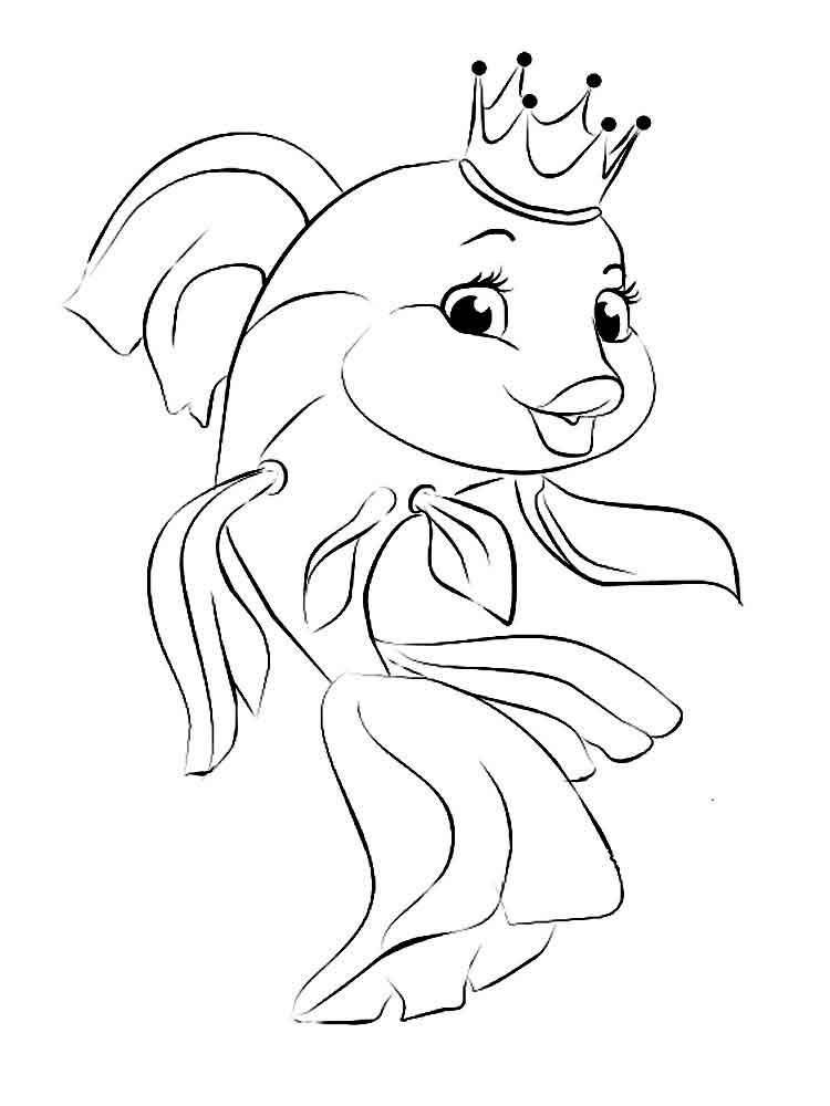 Картинка из сказки о рыбаке и рыбке срисовать