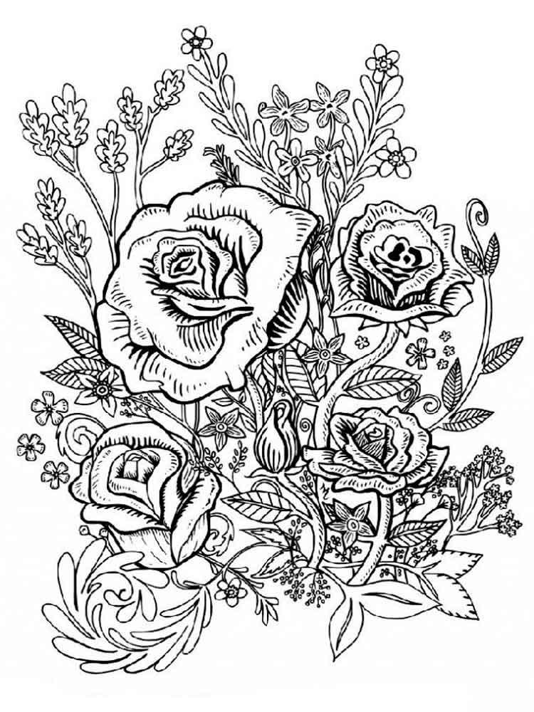 Раскраски Антистресс Цветы. Скачать и распечатать ...