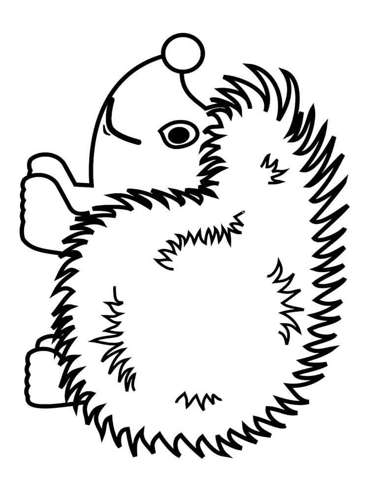 Картинка ежика для детей раскраска, поздравительная