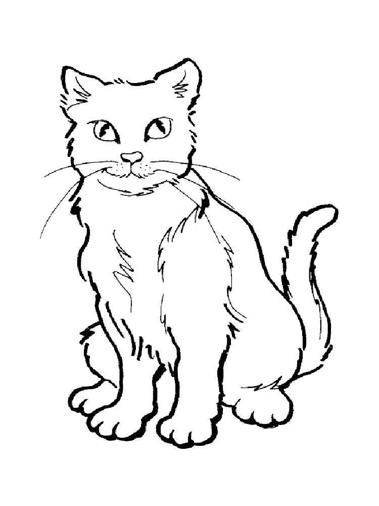 Раскраски Кошки. Скачать или распечатать раскраски Кошки