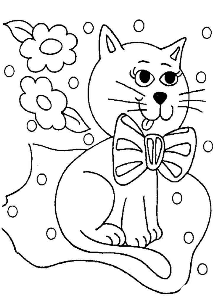 Спасибо господу, кошечки картинки для детей раскраски
